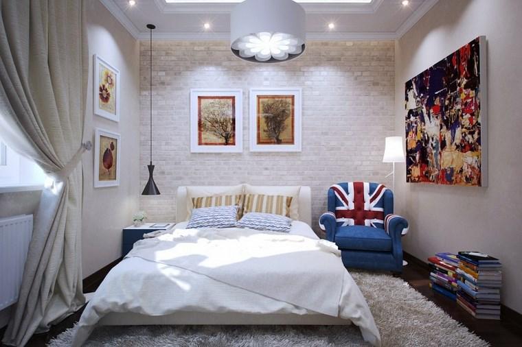 cuadros pared dormitorio moderno sillon ideas