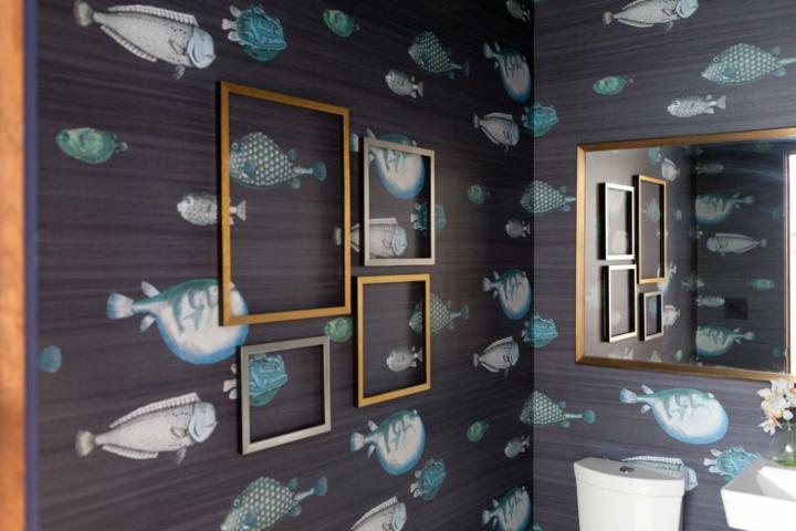 cuadros peces sala baños cuartos dorados