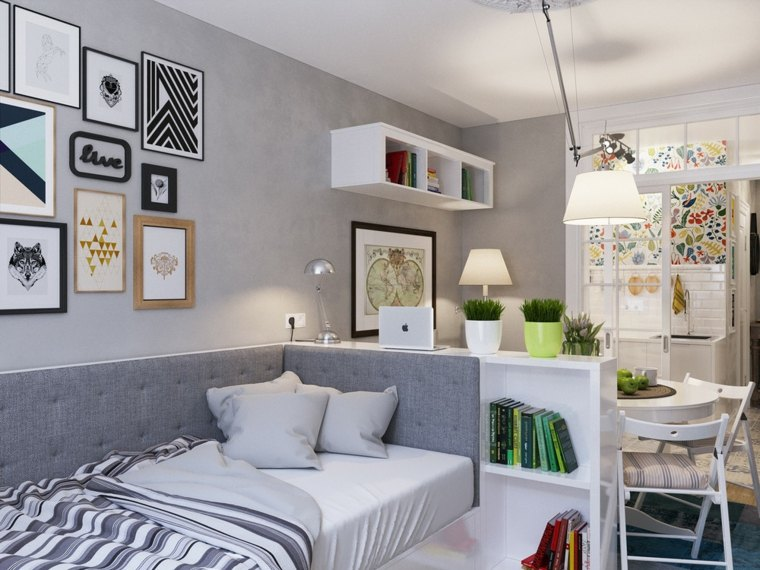 salones ideas colores cama with diseo interiores pequeos