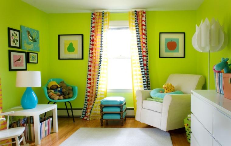 cuarto infantil verde pistacho