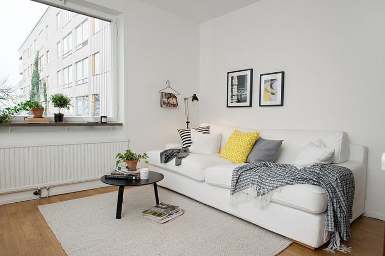 Salon gris y blanco la tendencia de esta temporada - Decoracion salon amarillo ...