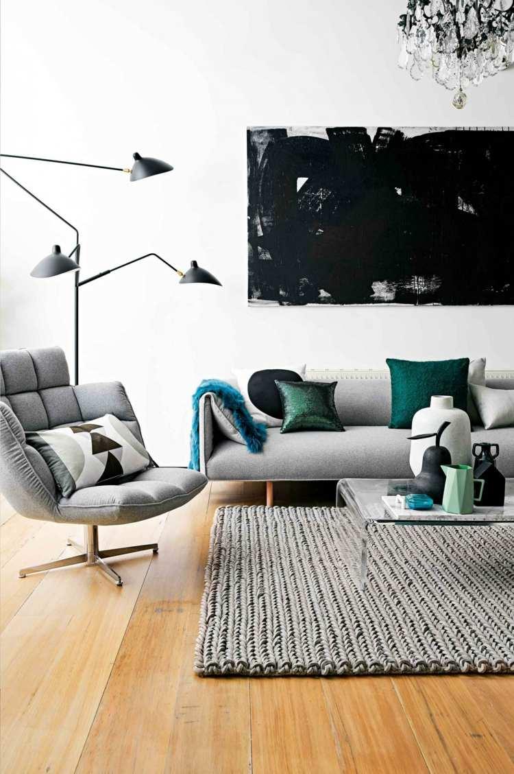 decoración blanco madera gris