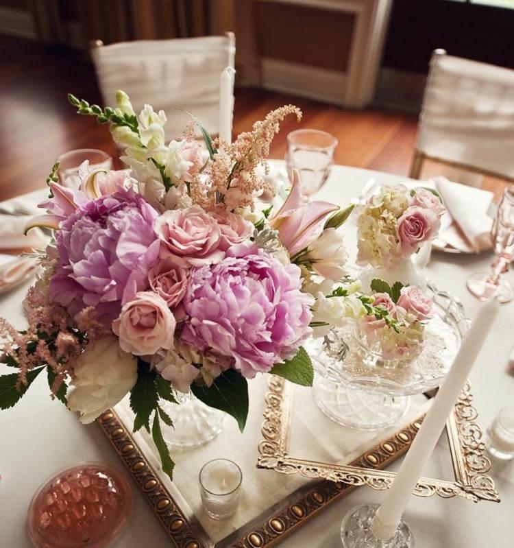 decoración centro mesa vintage