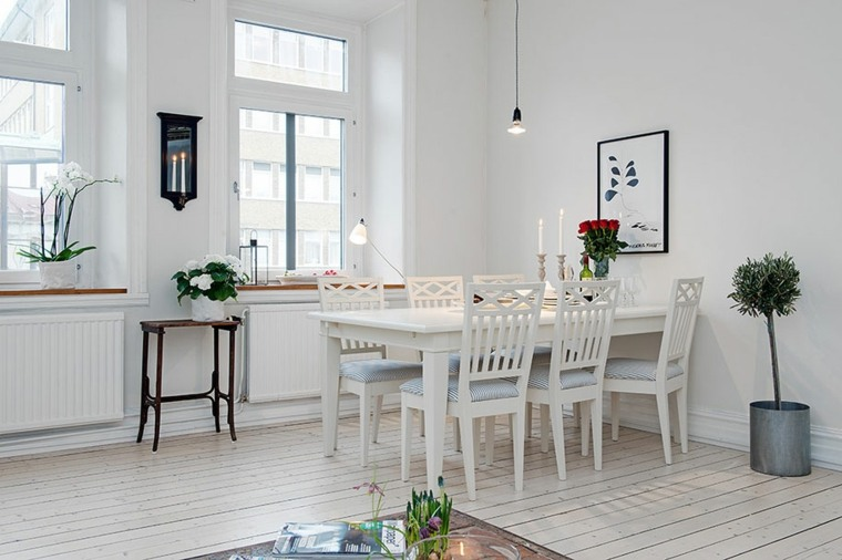 Comedores de estilo escandinavo - setenta y cinco imágenes -