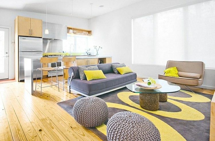 decoración salon grid amarillo