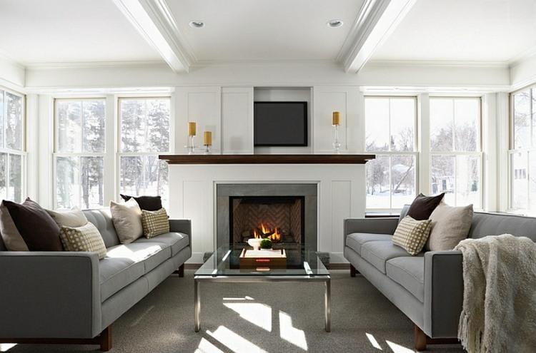 decoración salón diseño estilo clásico