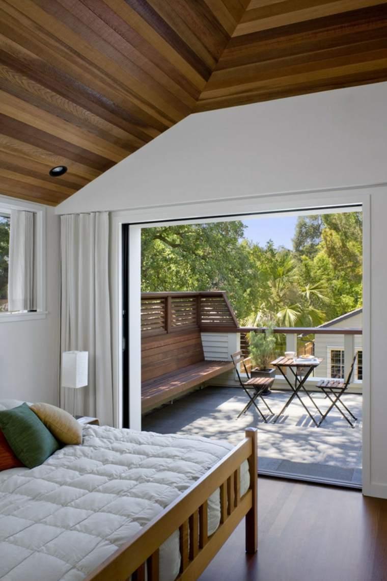 decoracion balcones opciones muebles bancos madera ideas