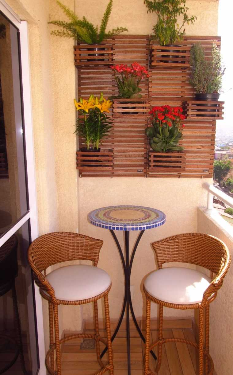 decoracion balcones opciones pared plantas ideas