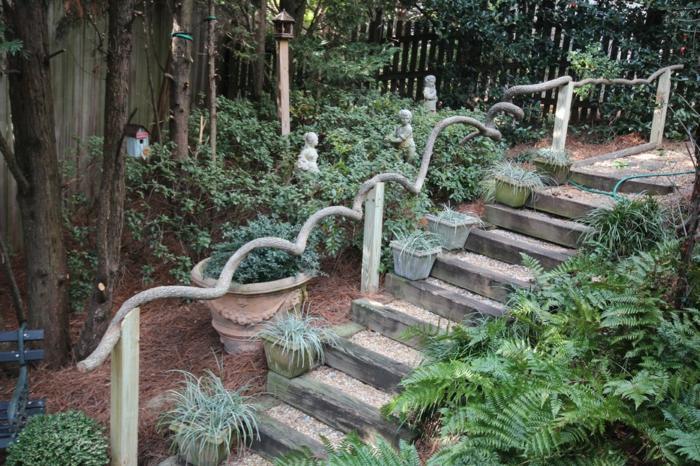 decoracion de jardines rusticos escalones grava