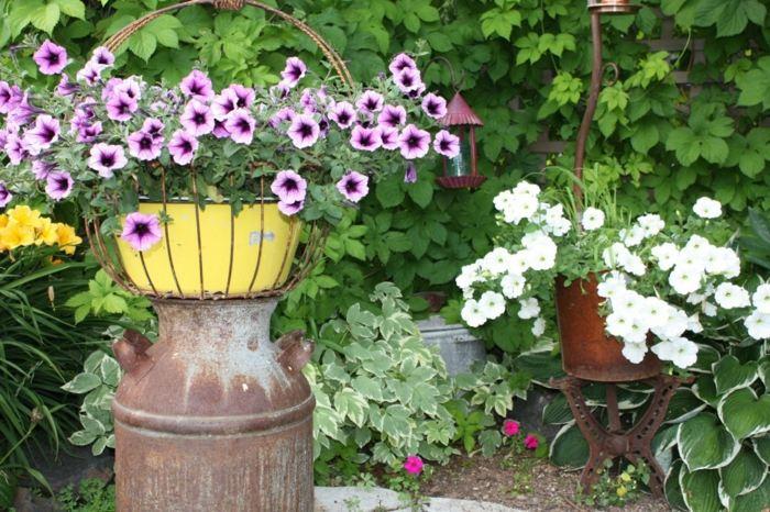 decoracion de jardines rusticos lecheras soluciones amarillo