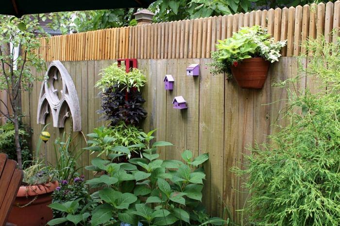 decoracion de jardines rusticos madera muro estilos