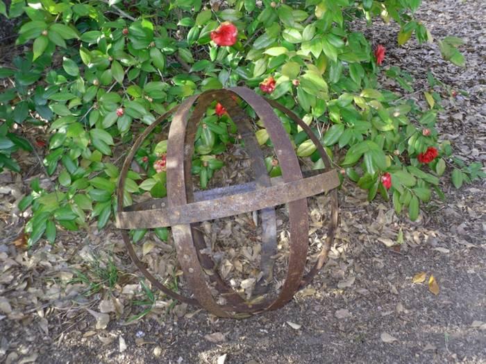decoracion de jardines rusticos mantillo metales metales