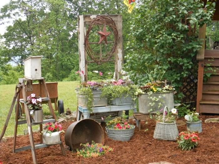 Decoracion de jardines rusticos con encanto natural. -