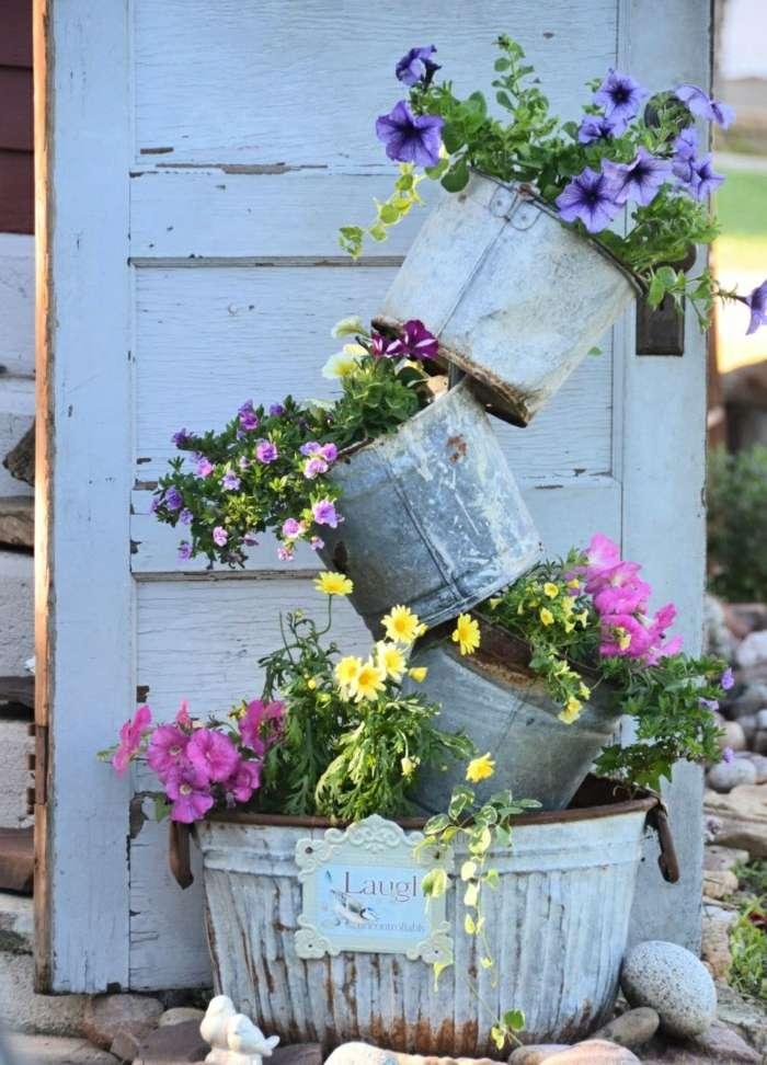 decoracion de jardines rusticos plantas tendencias rosado