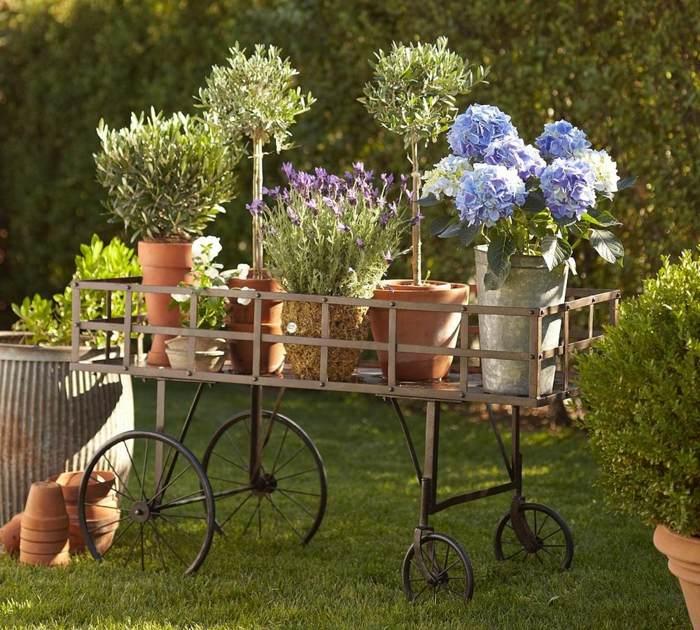 Decoracion de jardines rusticos con encanto natural - Jardineras rusticas exteriores ...