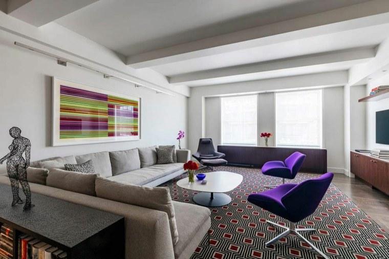 Decoraci n salones modernos y elegantes - Alfombras para salones modernos ...