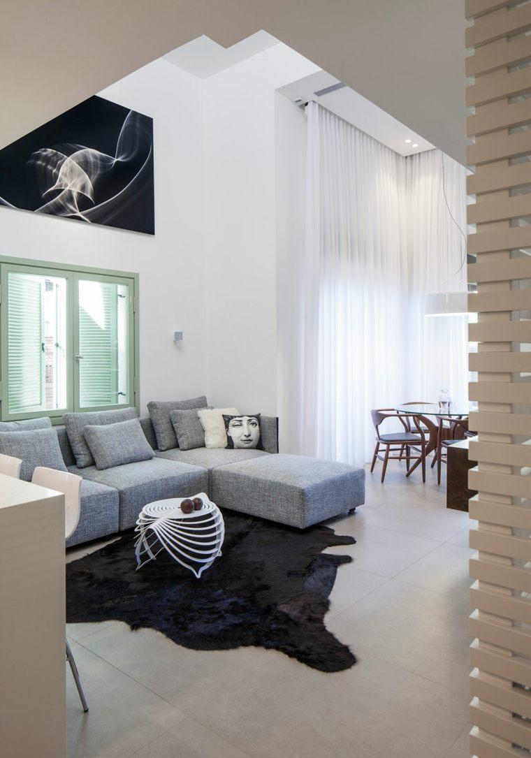 decoración salones modernos apartamento pequeno ideas