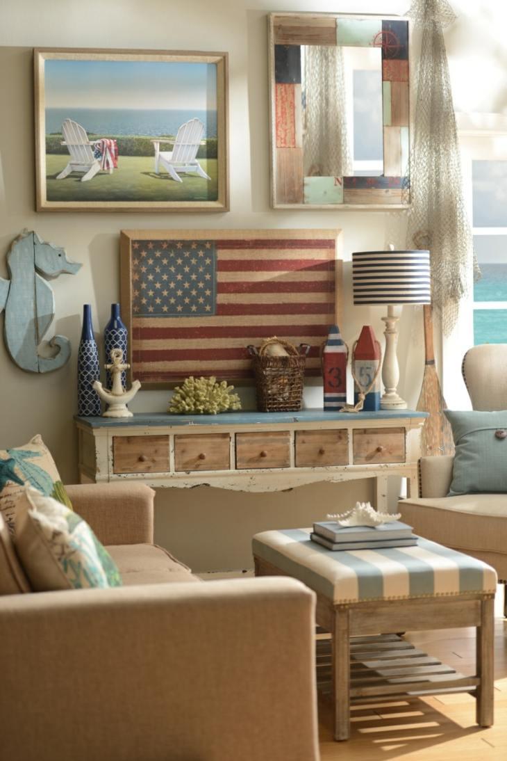 decoracion marinera salones azules caballitas caballito