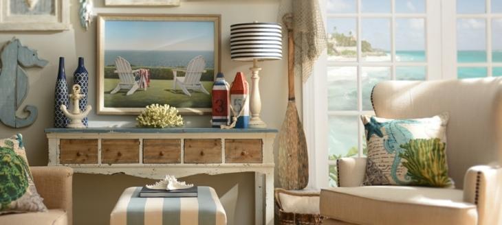 decoracion marinera salones azules remos lineas