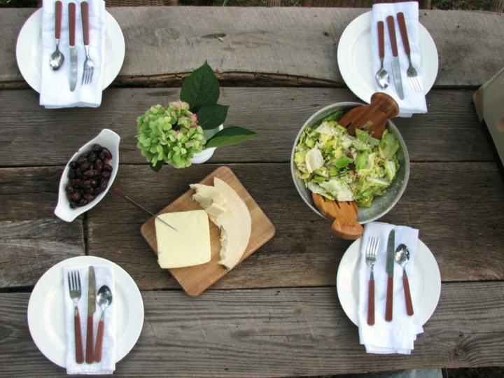 decoracion mesa jardin soluciones frutas centros maderas
