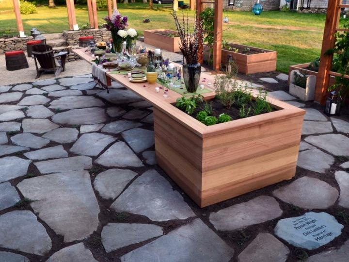 decoracion mesa jardin soluciones frutas fiestas lajas