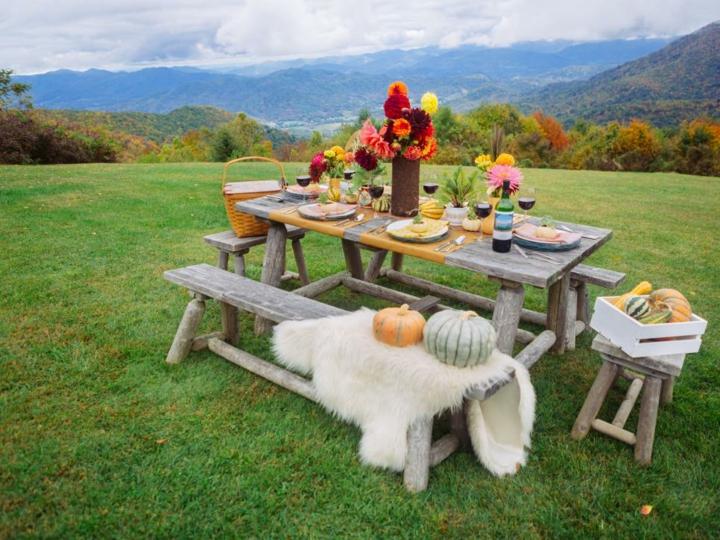 decoracion mesa jardin mobiliario rstico
