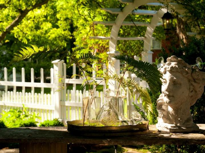 decoracion mesa jardin soluciones puertas lineas