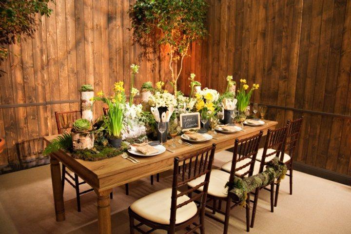decoracion mesa jardin soluciones puertas fiestas