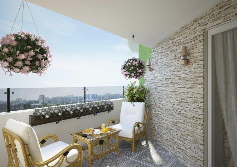 Decoracion para balcones soleados y agradables - Maceteros colgantes para balcones ...