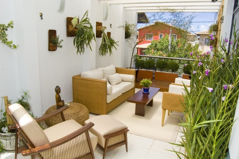 decoracion balcones opciones plantas pared ideas