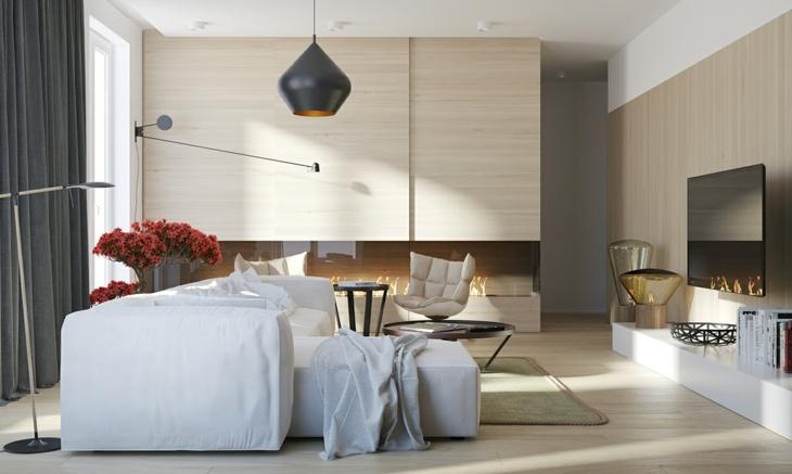 Decoracion salones con chimenea en ambientes acogedores - Decoracion de salones con chimenea ...