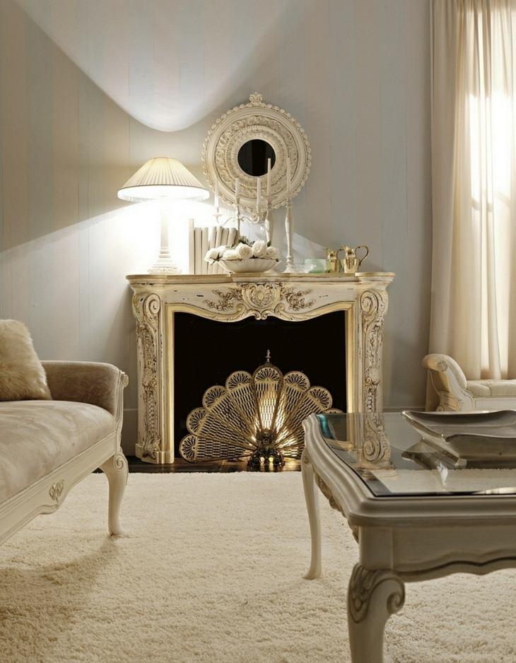 Decoracion salones con chimenea en ambientes acogedores - Salones diseno italiano ...