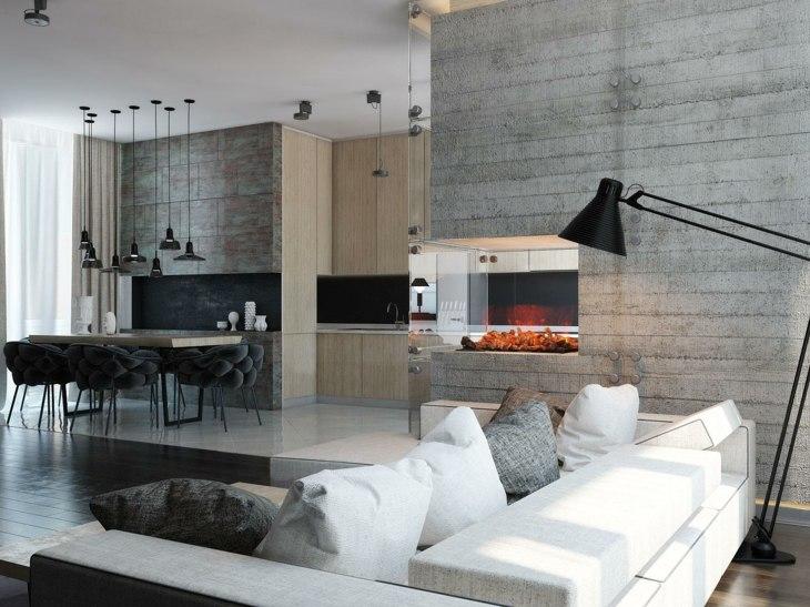 Decoracion salones con chimenea en ambientes acogedores - Decoracion con chimeneas ...