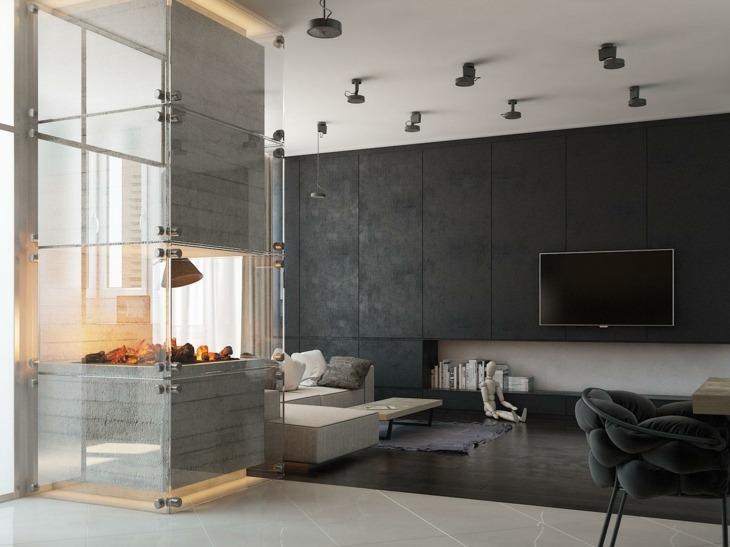 decoracion salones con chimenea frecuencias paredes salones