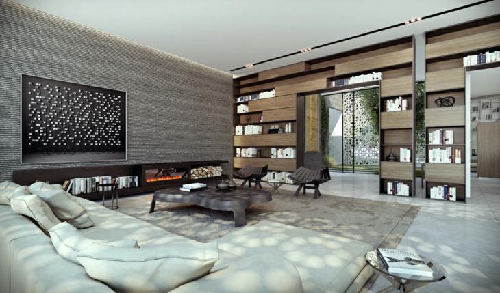 decoracion salones con chimenea frecuencias tendencias grises