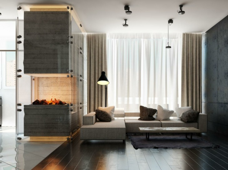 decoracion salones con chimenea frecuencias lineas