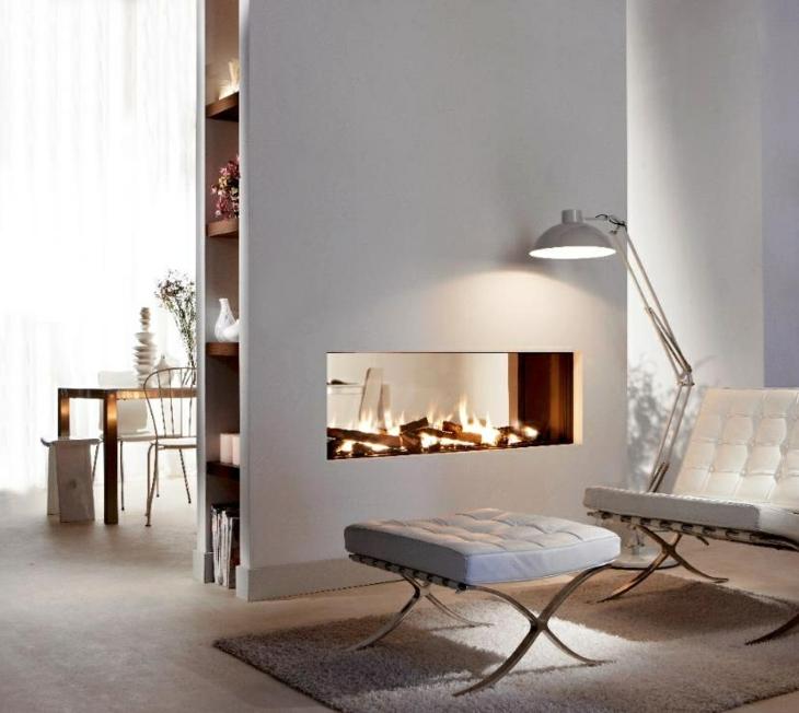 decoracion salones con chimenea separado lamparas cara