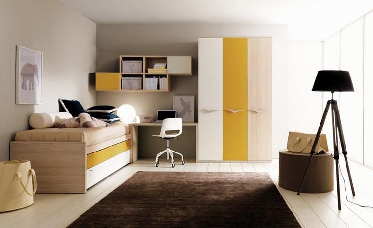 decorar-habitacion-nina-alfombra-color-marron