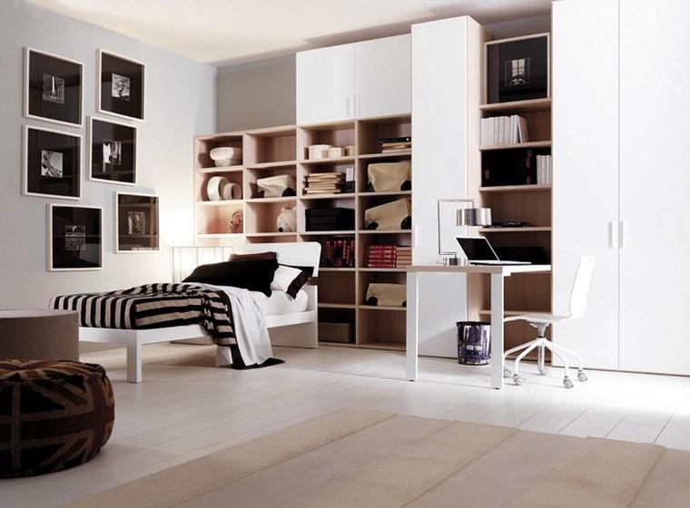 decorar habitacion nina armarios blancos cuadros pared ideas