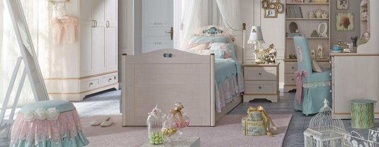 decorar habitacion niña colores claros escritorio ideas