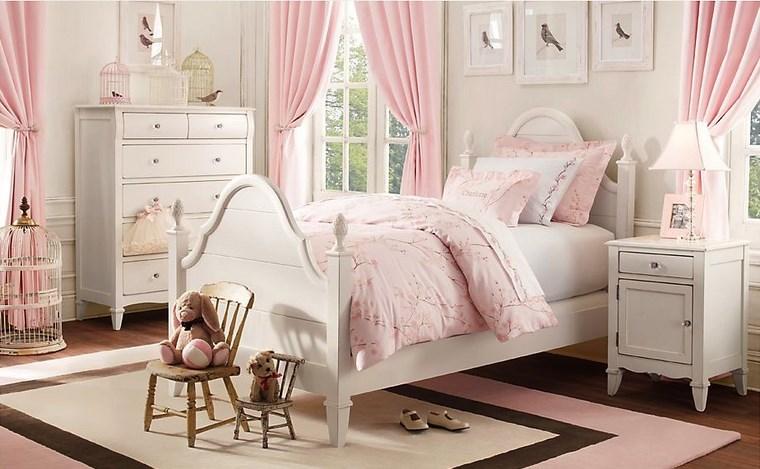 decorar habitacion niña cortinas color rosa ideas