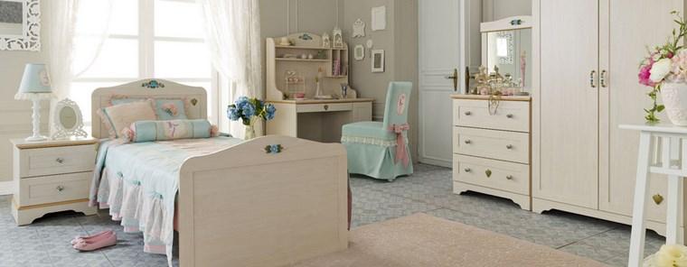 decorar habitacion nia muebles blancos madera ideas - Muebles Nina