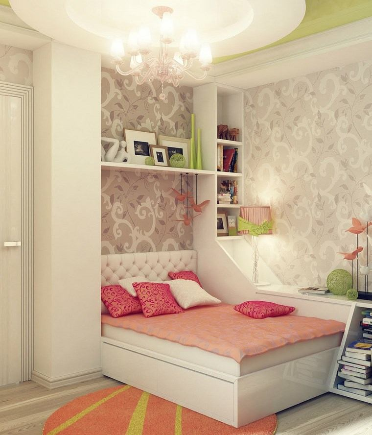 decorar habitacion niña papel pared original diseno moderno ideas