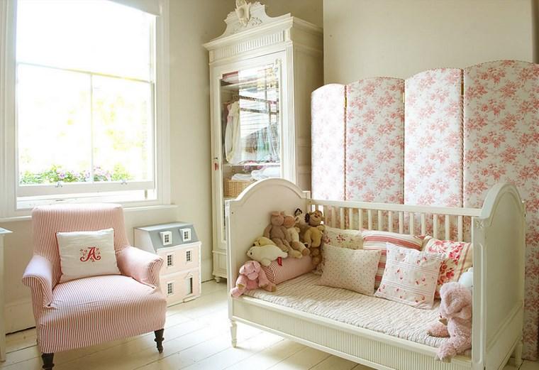 decorar habitacion niña pared separadora ambientes ideas