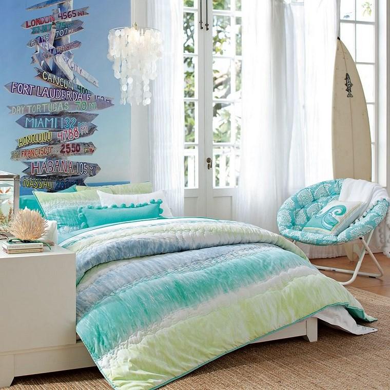 decorar habitacion niña silla azul claro surf ideas