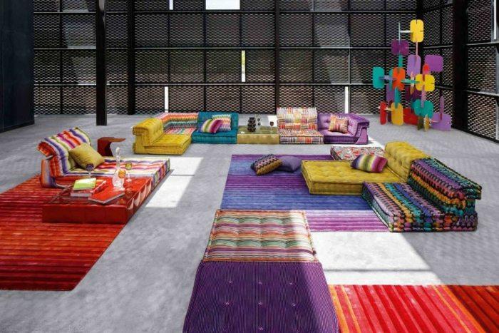 detalles amplios espacios muebles colores rojo