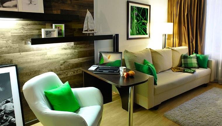 detalles-verdes-cojines-interior-moderno-opciones