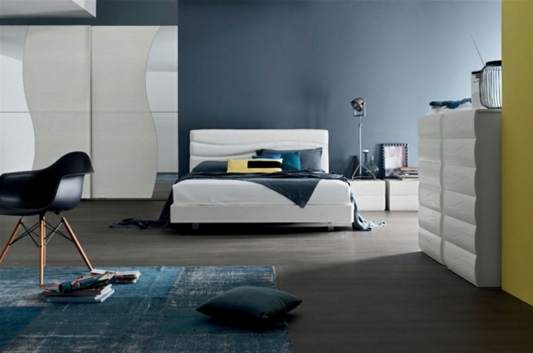 detalles y mas opciones dormitorio moderno azul ideas