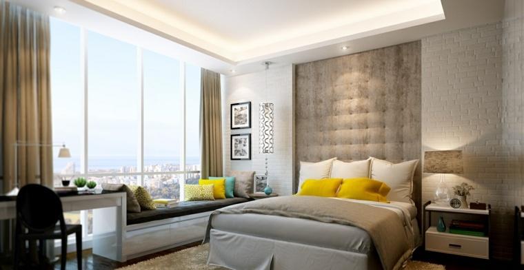 detalles y mas opciones dormitorio moderno banco ventana ideas