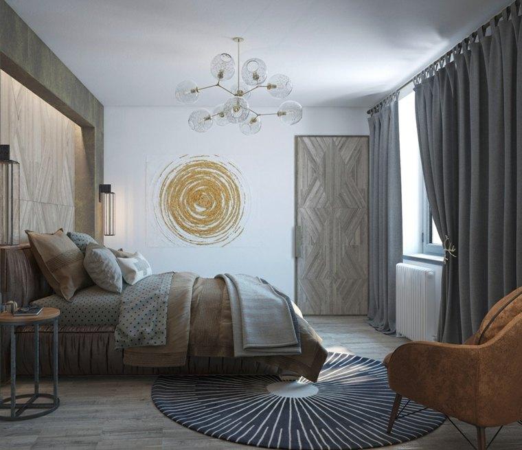 detalles y mas opciones dormitorio moderno dibujo pared ideas